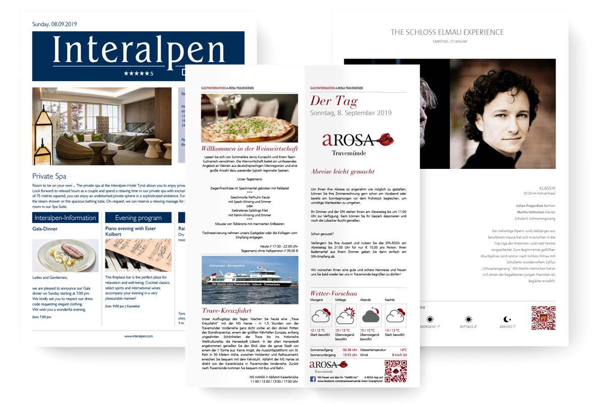 examples of Hotel MSSNGR PDFs