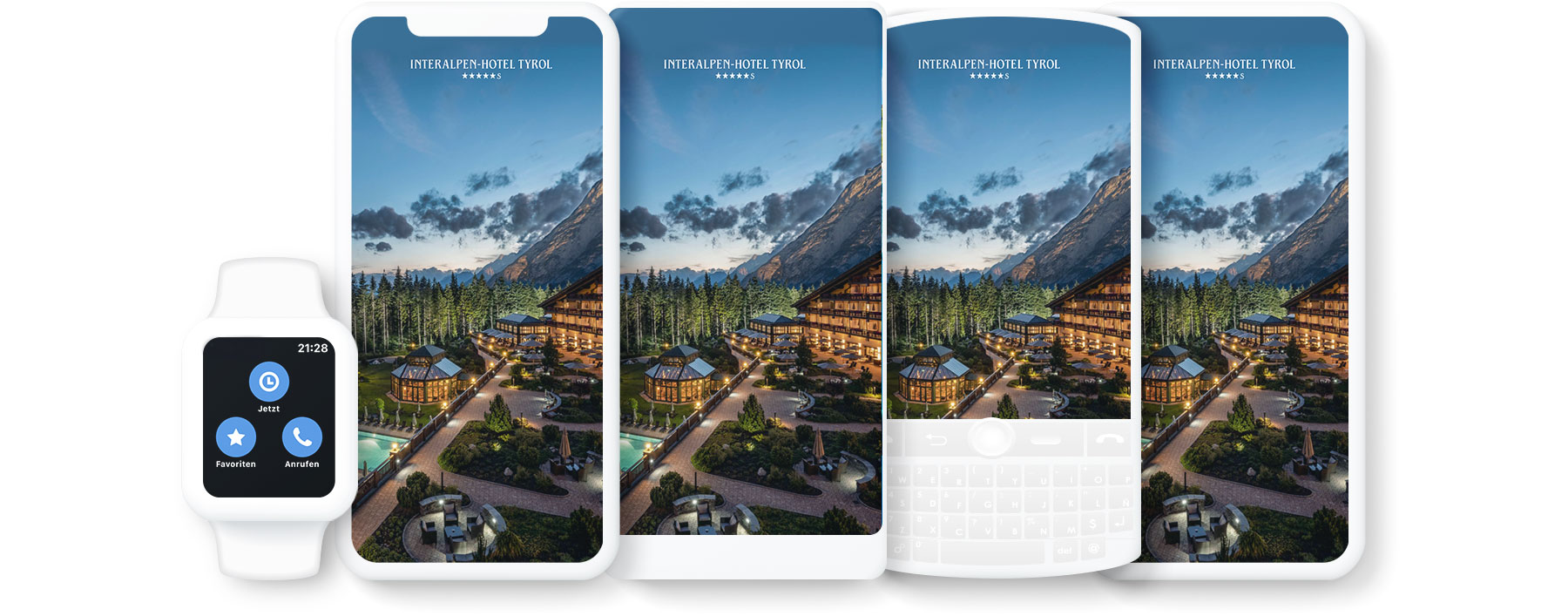 picture of different devices with the Hotel MSSNGR web app