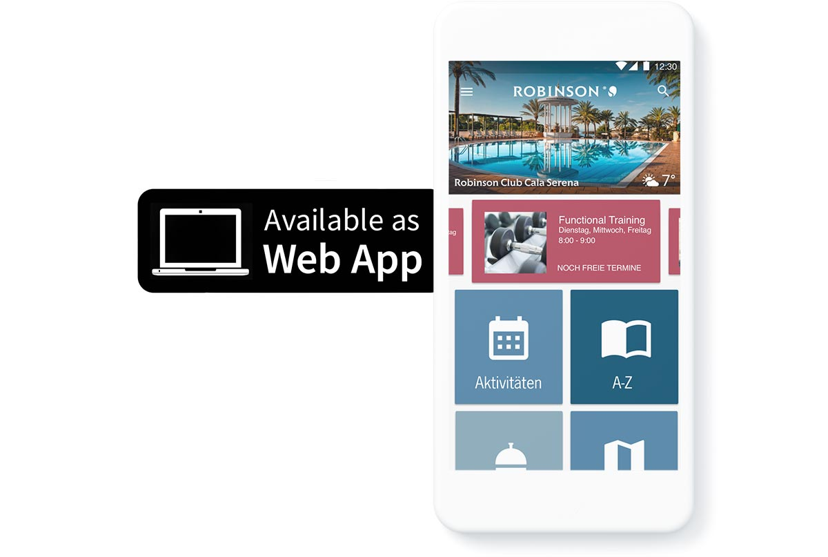 picture with mobil device and Hotel MSSNGR Web App icon